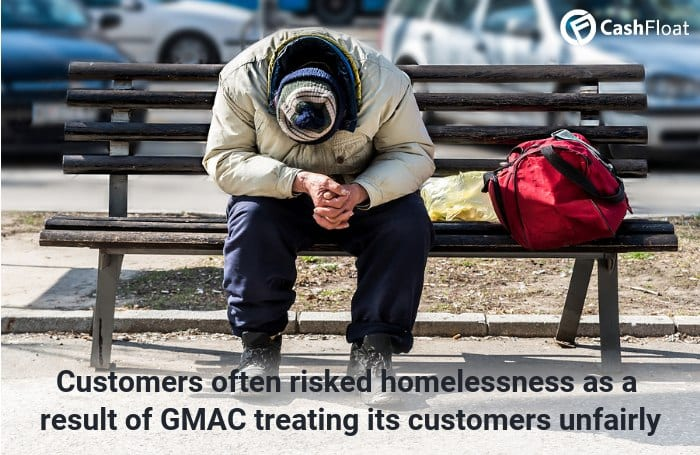 Customers often risked homelessness as a result of GMAC treating its customers unfairly - Cashfloat