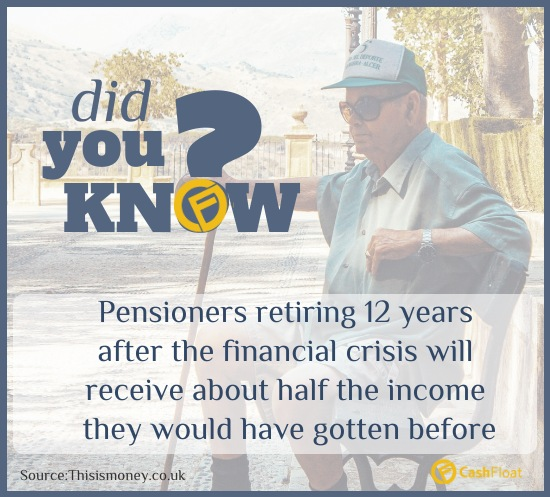 pensioners get half their income due to financial crisis- Cashfloat