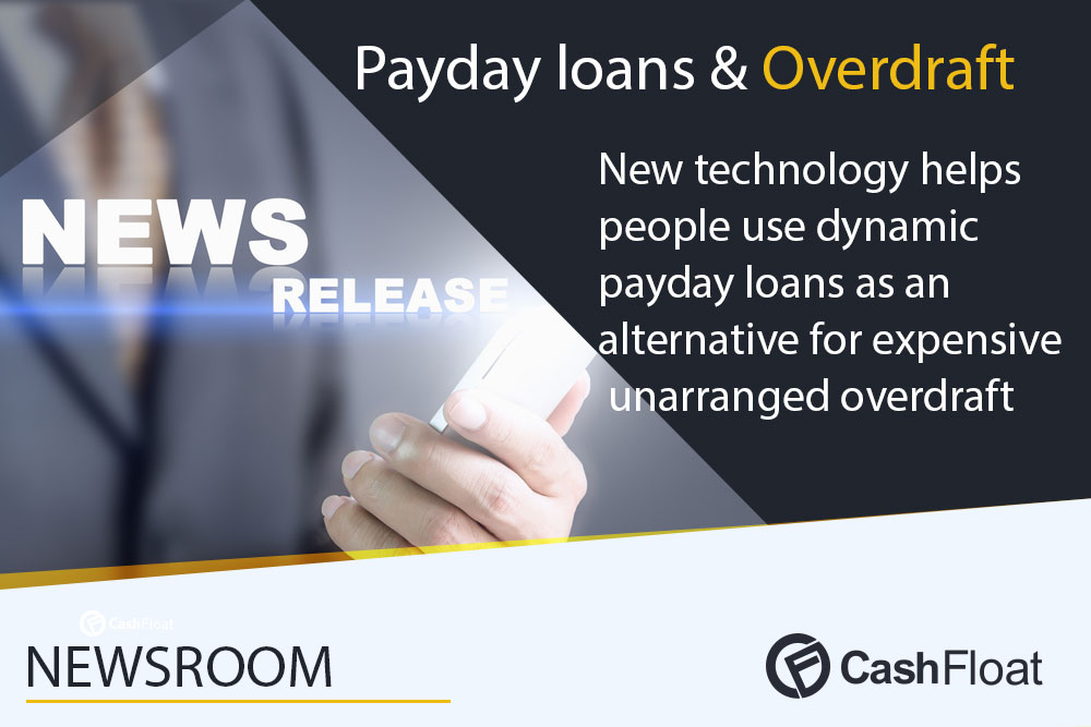PRNewswire - Dynamic payday loans as an alternative for unarranged overdraft.