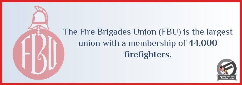 The Fire Brigades Union is the largest union with a membership of 44,000 firefighters - Cashfloat