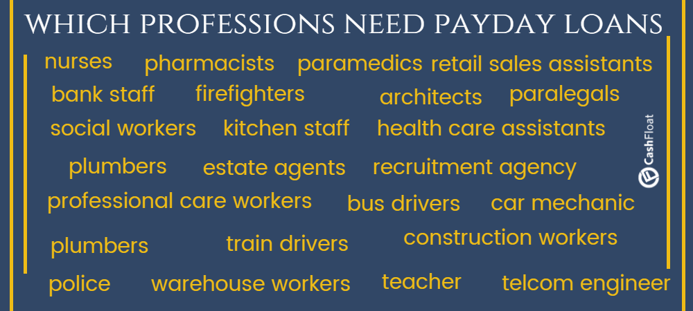 Professions need payday loans - cashfloat