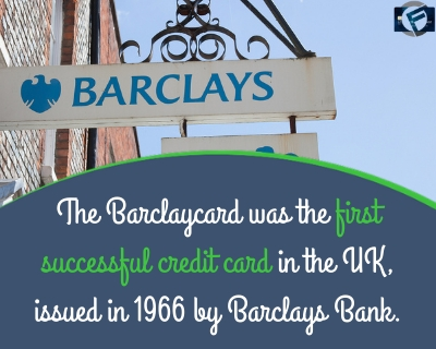 The Barclaycard was the first successful credit card in the UK, issued in 1966 by Barclays Bank.