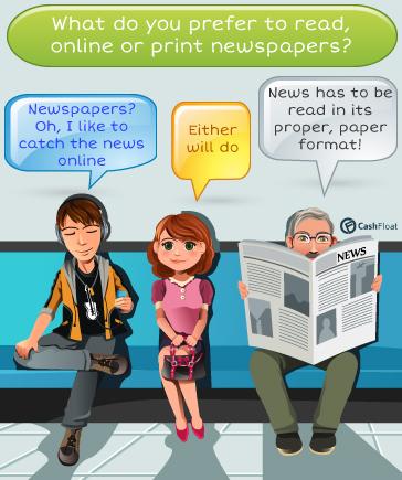 Online newspaper vs print version