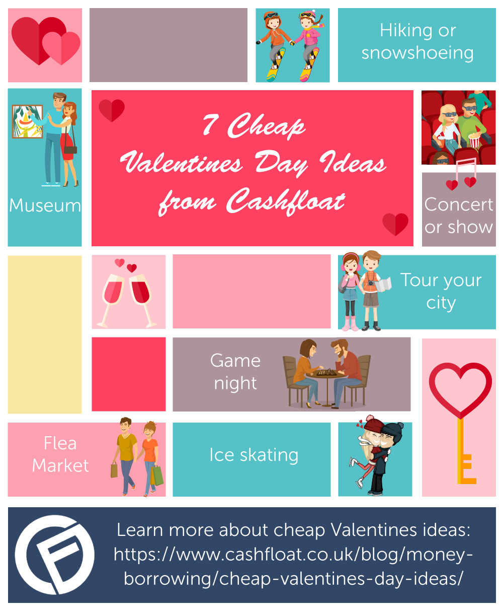 Cheap Valentines Day Date Ideas Infographic Cashfloat
