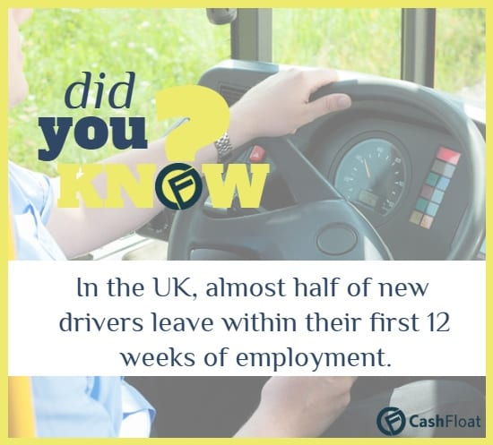 Almost half of new drivers leave within their first 12 weeks of employment - Cashfloat