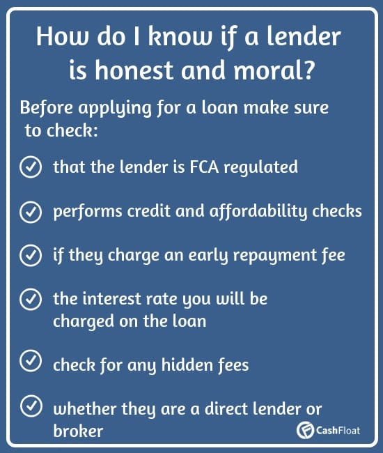 points to consider whether a payday lender is moral and honest - Cashfloat