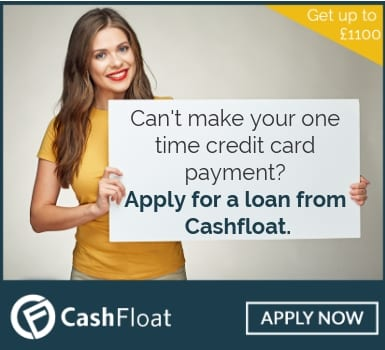 Can't make your one time credit card payment?  Apply for a loan from Cashfloat.