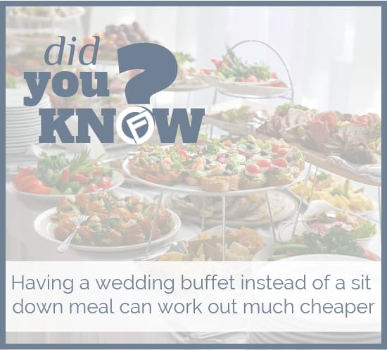 Having a wedding buffet instead of a sit down meal can work out much cheaper - Cashfloat