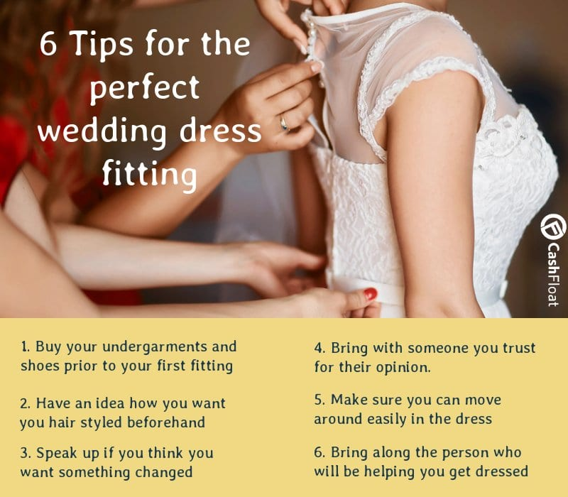 6 Tips for the perfect wedding dress fitting - Cashfloat