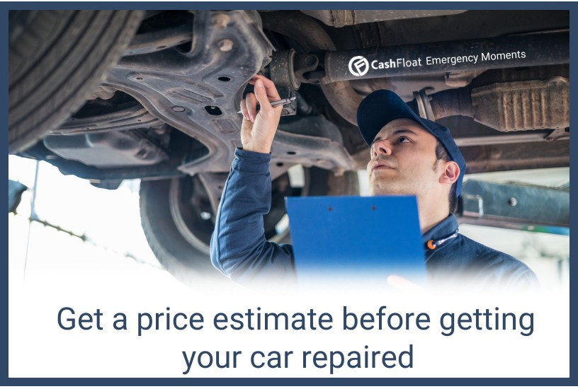 Get a price estimate before getting your car repaired - Cashfloat