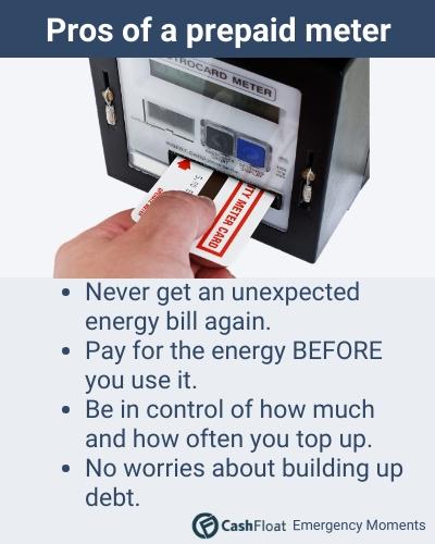 Pros of a prepaid meter - Cashfloat